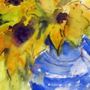 Sunshine Pitcher - Watercolor - 15x22 in.
